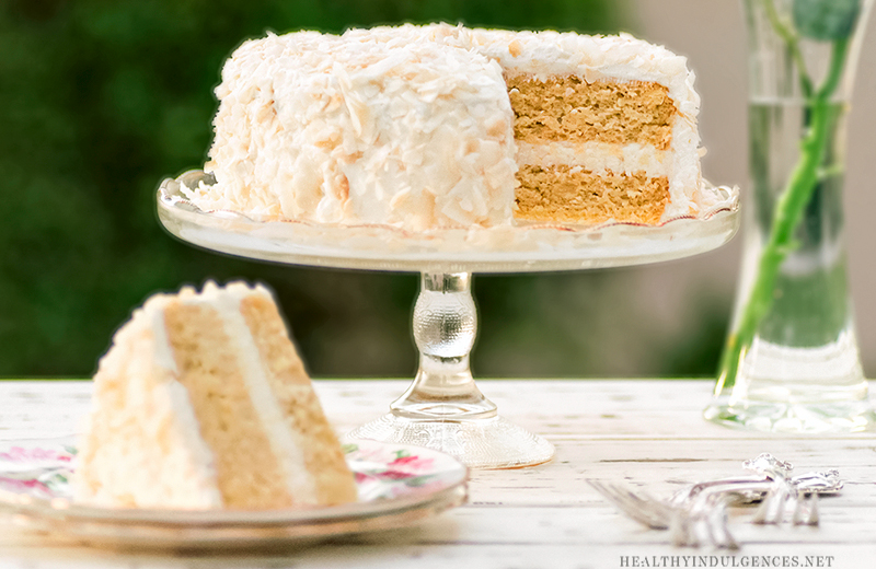 Low Fat Gluten Free Cake Recipes: Healthy Vanilla Coconut Cake (Sugar-Free, Gluten-Free