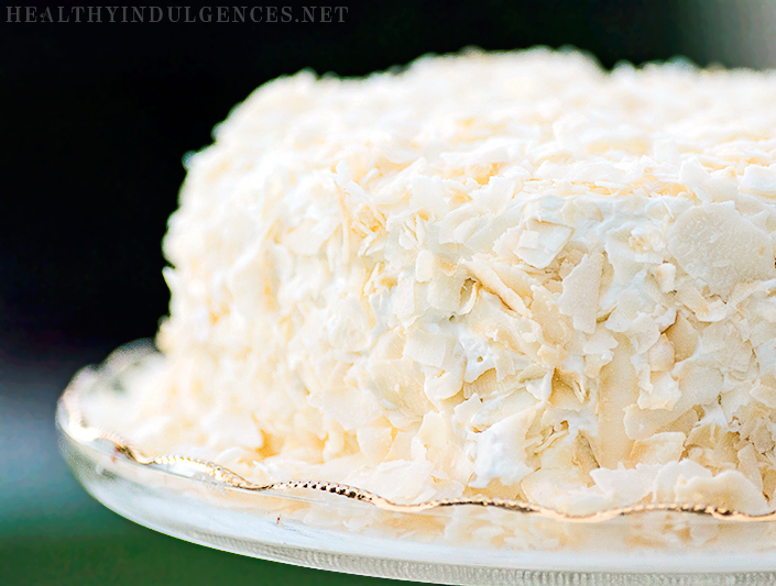 Healthy Vanilla Coconut Cake SugarFree GlutenFree GrainFree
